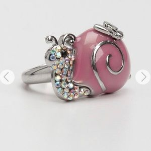Guess Pink Snail Ring with Butterfly 🐌🦋💍